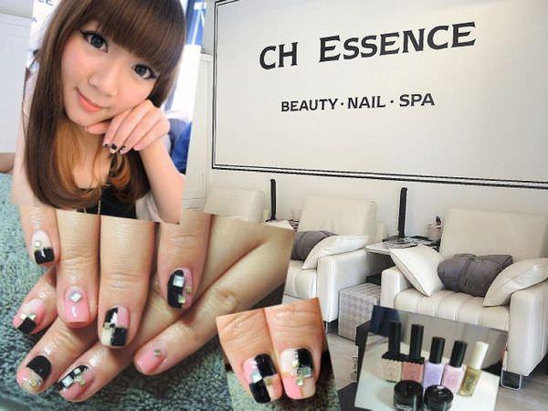 【台北內湖美甲】CH Essence艾美佳人~甜美mix個性風格鉚片光療指甲